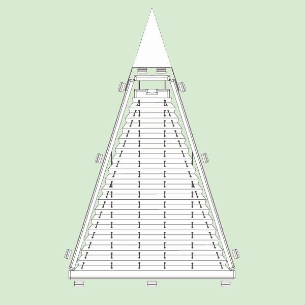 Натяжная система штор плиссе для поворотных окон ибалконных дверей сложных форм   шириной от30см.до150см., высотой от30см.до200см.
