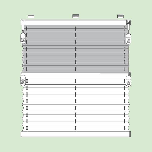 Свободновисящая система штор плиссе для вертикальных окон ибалконных дверей прямоугольной формы шириной от15см.до150см., высотой от30см.до260см.