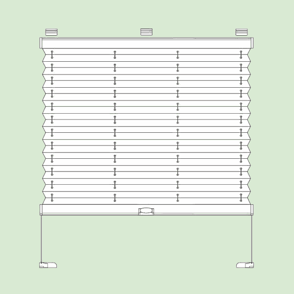 Натяжная система штор плиссе для поворотных окон ибалконных дверей квадратной или прямоугольной формы шириной от12см до150см,   высотой от20см. до220см.