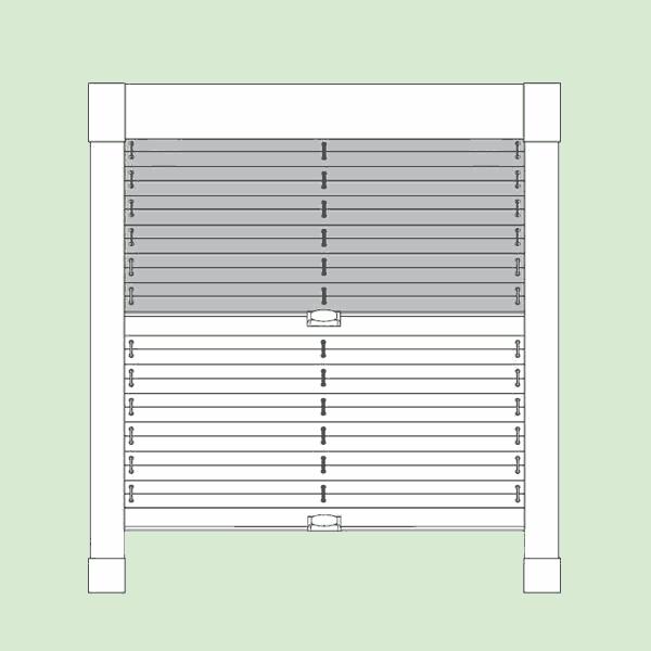 Система штор плиссе для мансардных инаклонных окон шириной до150см., высотой до150см.