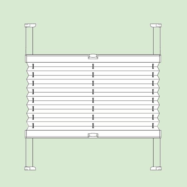 Система штор плиссе для мансардных инаклонных окон шириной от20см.до150см., высотой от20см.до150см.