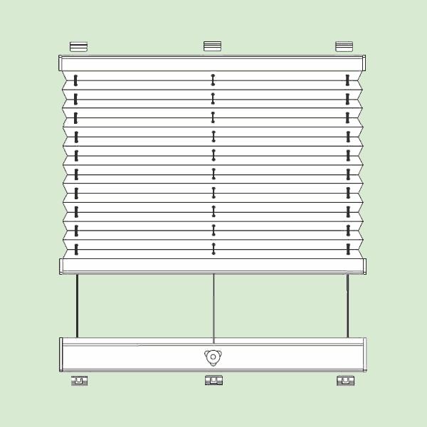 Система штор плиссе для стеклянных крыш изимних садов наклонного игоризонтального типа   шириной от20см.до150см., высотой от30см.до400см.