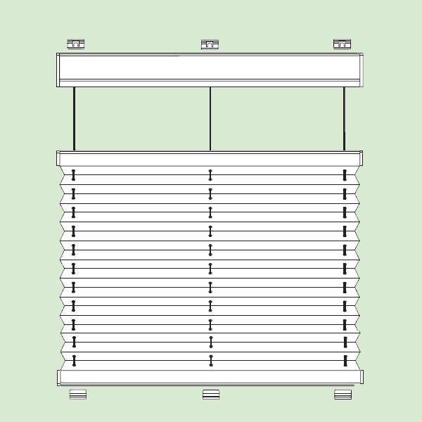 Система штор плиссе для стеклянных крыш изимних садов наклонного   игоризонтального типа шириной от36см.до150см., высотой от30см.до400см.