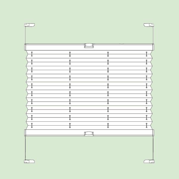 Натяжная система штор плиссе для поворотных окон ибалконных дверей квадратной   или прямоугольной формы шириной от20см.до150см., высотой от20см.до220см.