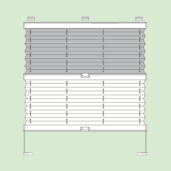 Натяжная система 'день-ночь' штор плиссе для поворотных окон ибалконных дверей квадратной или прямоугольной формы шириной от12см до150см,   высотой от20см. до220см.