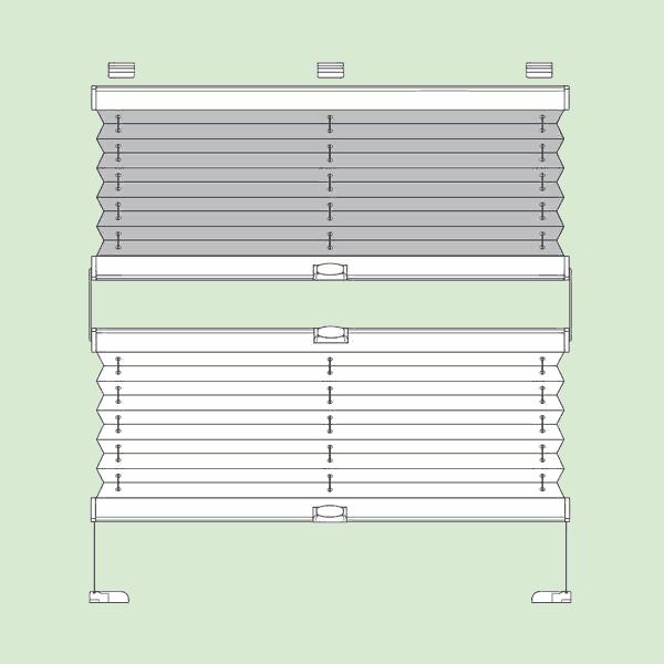 Натяжная система штор плиссе для поворотных окон ибалконных дверей квадратной   или прямоугольной формы шириной от12см.до150см., высотой от20см.до220см.