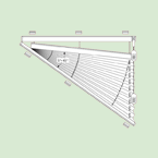 Свободновисящая система штор плиссе для вертикальных окон ибалконных дверей сложных форм шириной от30см.до100см.*, высотой от30см.до100см. * Зависит отширины ткани