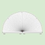 Неподвижная (статичная) система штор плиссе для вертикальных арочных окон шириной от30см до150см.*, высотой от15см.до75см. Ширина всегда вдвое больше высоты. * Зависит отширины ткани