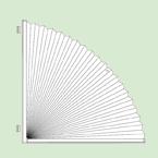 Неподвижная (статичная) система штор плиссе для вертикальных арочных иполуарочных окон шириной от15см.до100см., высотой от15см.до100см.